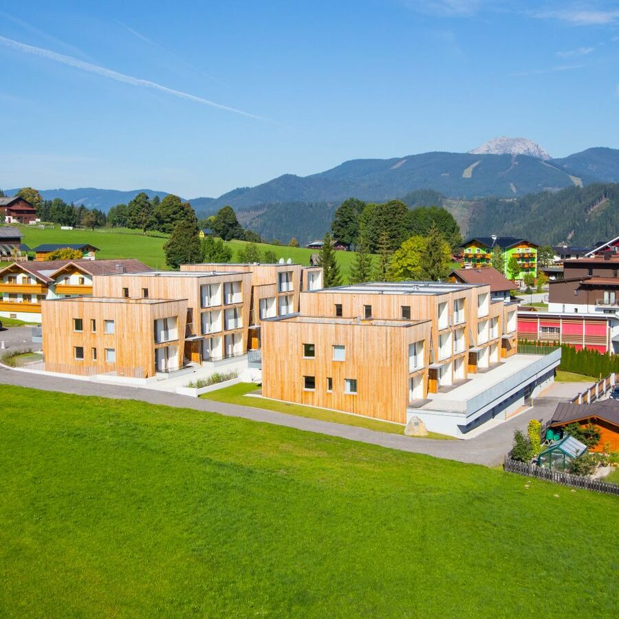 Summer view of the Alpenrock Schladming apartments