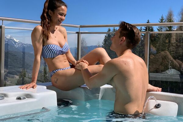 Privater Pool - Alpenchalets Reiteralm Schladming